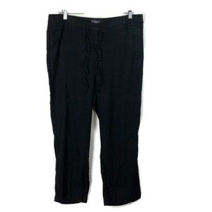 NYDJ Jamie Relaxed Ankle Flared Pants Black